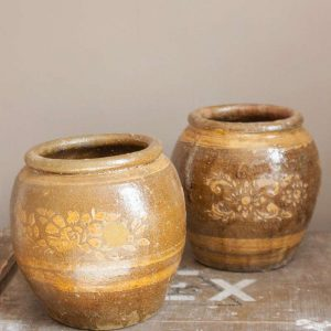 1210set-van-2-groen-bruine-antieke-potten-61944