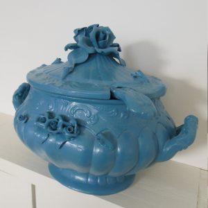 0276 Blauwe soepterrine