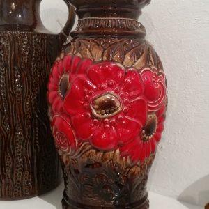 0285 West Germany vaas bruin rood