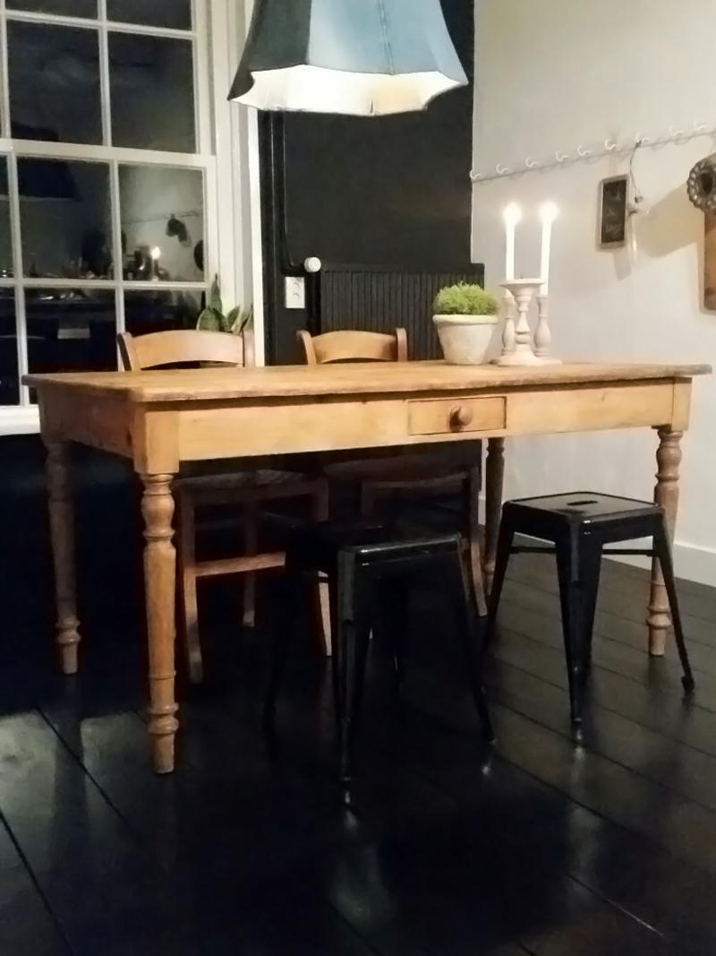 Oud Grenen Tafelblad.Antiek Grenen Eettafel