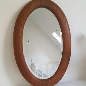 0350 Eiken ovale spiegel