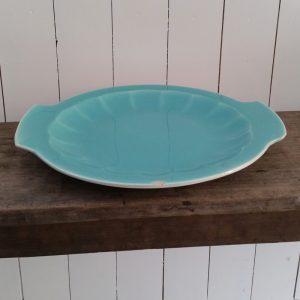 0473 Mintkleurige taartschaal