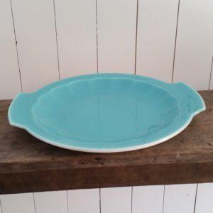 0474 Mintkleurige taartschaal