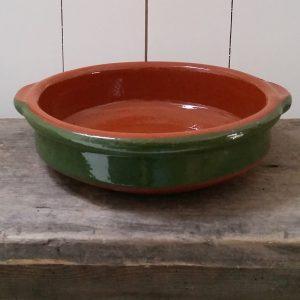 0476 Terracotta groen ovenschaal
