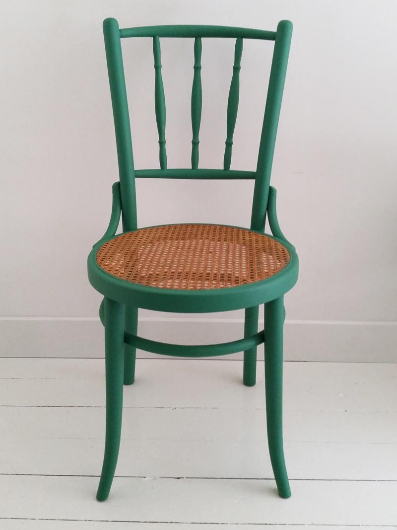Brocante groene stoel frechic for Groene stoel