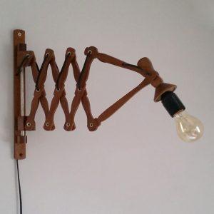 0961 Houten schaarlamp