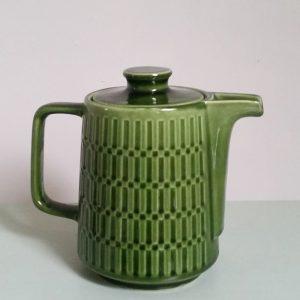 0970 Retro groene koffiepot