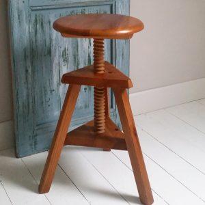 0977 Vintage houten draaikruk