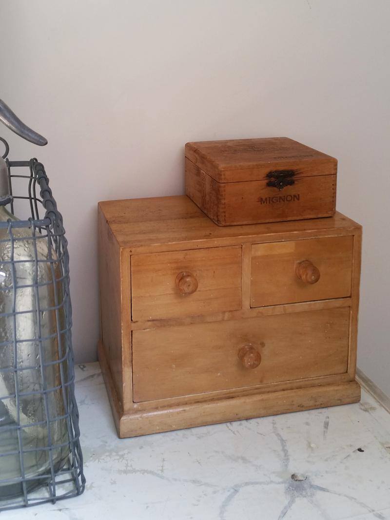 Blank Houten Ladenkastje.Vintage Houten Ladenblok Frechic