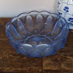 1059 Blauw glas schaal