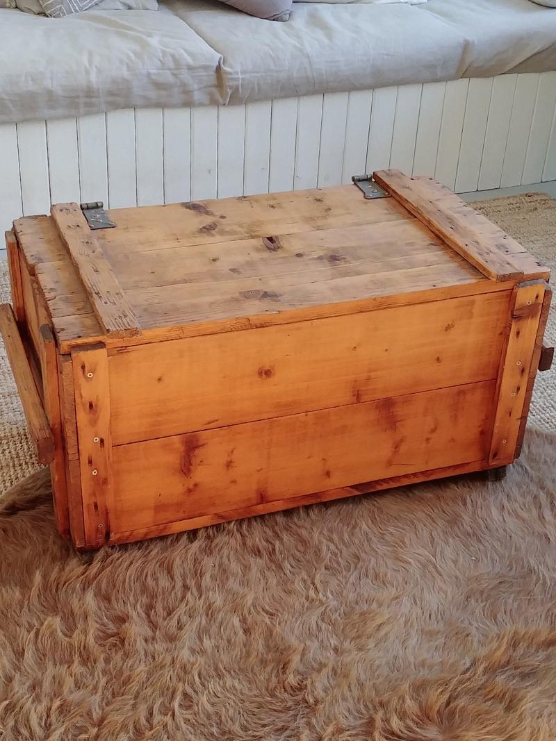 Landelijke Houten Kist.Oude Houten Verhuiskist Frechic
